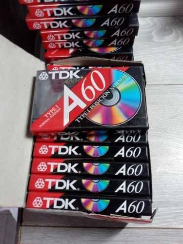 Lote 10 Cassette Tdk A60 Nuevos Cerrado
