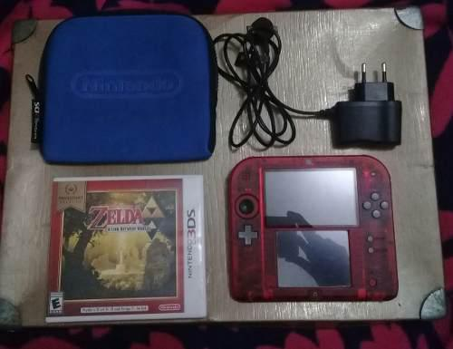 Nintendo 2ds Flasheada Sd 32gb + Zelda A Link Between Worlds