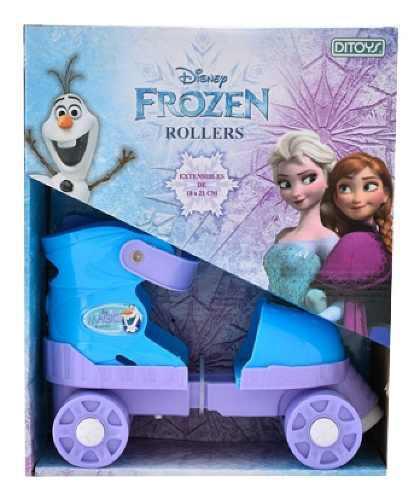 Patines Extensibles Frozen Disney 18 A 21 Cm Original Ditoys