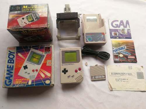 Consola Game Boy Dmg Con Lupa Y Cargador
