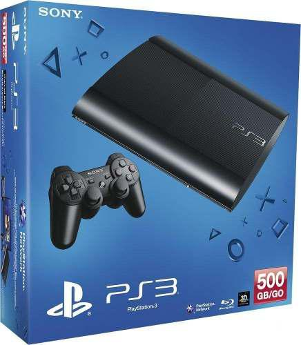 Play Station 3 Slim 500gb + Pack De Juegos Ilimitado