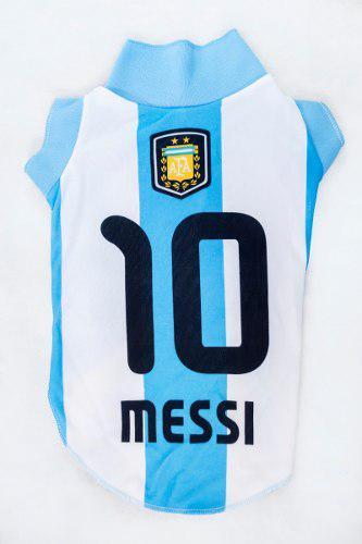 Camiseta Argentina Messi Para Perro - Talle 3