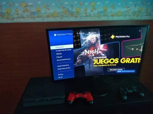 Ps4 Slim 500gb + 2 Joysticks + 13 Juegos + Monitor Samsung