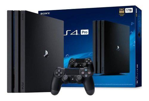Sony Playstation Ps4 Pro 1 Tb Cuh-7215b 4k Hdr Gtia Anual