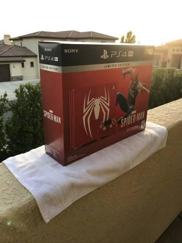Sony Playstation Ps4 Pro 1tb Edicion Limitada Spider-rojo