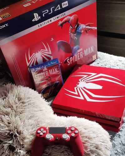 Sony Playstation Ps4 Pro 1tb Spider-red Edición Limitada