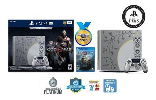 Sony Ps4 Pro 1tb 4k Hdr God Of War Edition Sealed