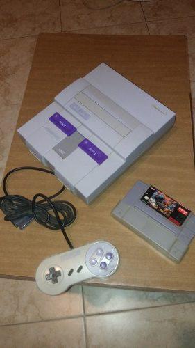 Consola Super Nintendo + Cartucho Street Fighter 2 Wr