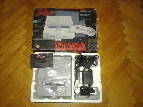 Super Nintendo En Caja Con Manuales Completa !