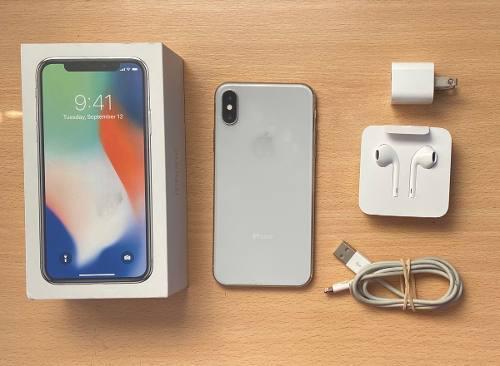 Apple iPhone X 256gb Silver Caja Y Accesorios