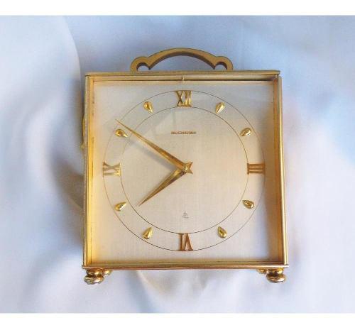 Bucherer Imhof 8 Días Antiguo Reloj De Mesa 0a