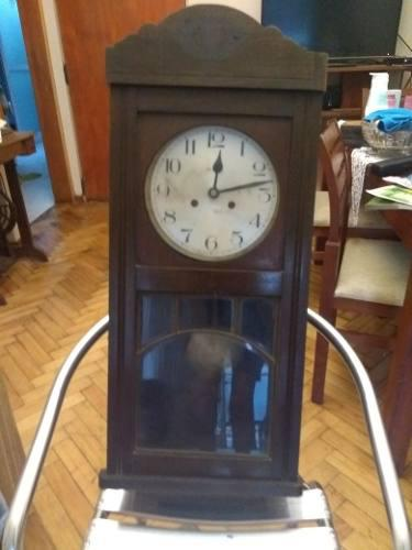 Reloj Antiguo De Pared Y De Madera Marca Casa Escasany