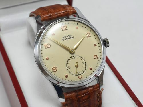 Reloj Hombre Girard Perregaux Antiguo Acero Correa Lagarto
