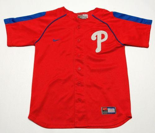 Casaca Baseball Nike Niño Phillies Talle S 8-10 Color Rojo