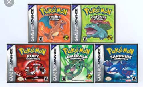 Pack De Juegos Digitales Pokemon + Emulador Game Boy Para Pc