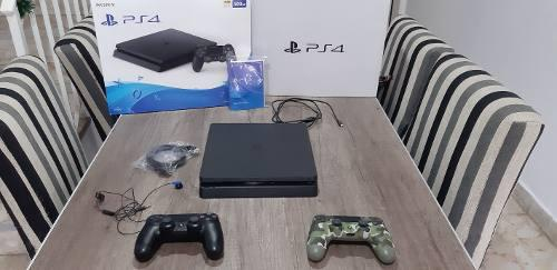 Sony Playstation 4 Ps4 Standard 500gb Jet Black 2 Joystick