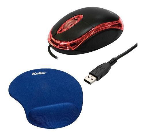 Mouse Optico Con Cable Ps2 + Pad Con Muñequera Ult Mod