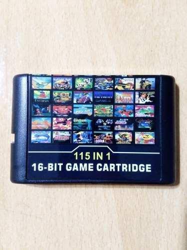 Cartucho 115 Juegos Reales Sega Genesis 16 Bits Retro
