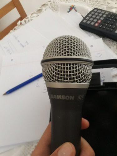 Micrófono Samson Q7 Sin Uso Con Accesorios Y Cable