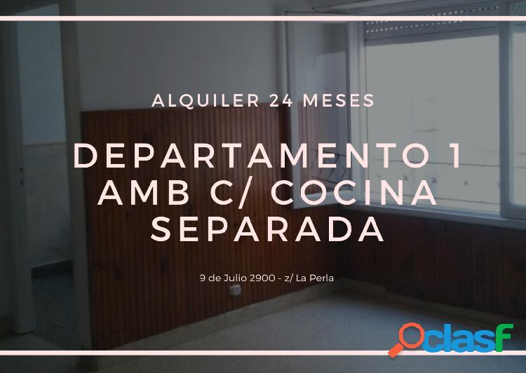 Departamento 1 ambiente cocina separada