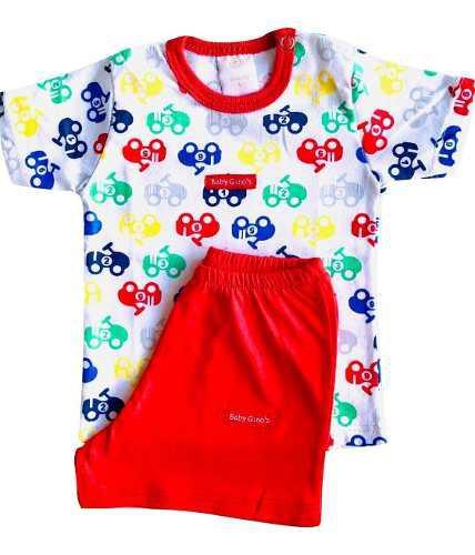 Pijamas M/c X 3 Conjuntos Baby Ginos 100% Algodon Pima
