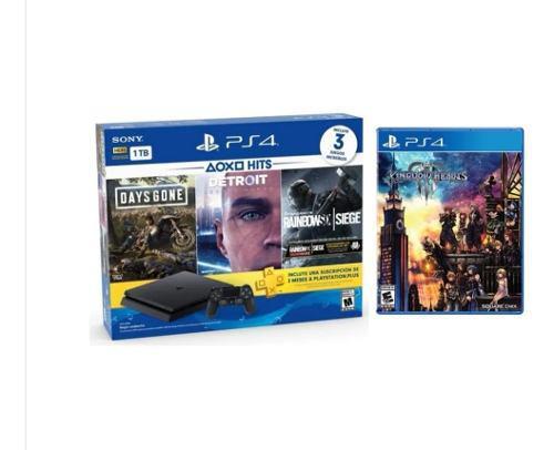 Ps4 Slim 1tb 3 Juegos + Kingdom Hearts 3. Solo Una En Stock!