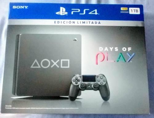 Ps4 Slim 1tb Edicion Limitada Days Of Play + Joystick Pod