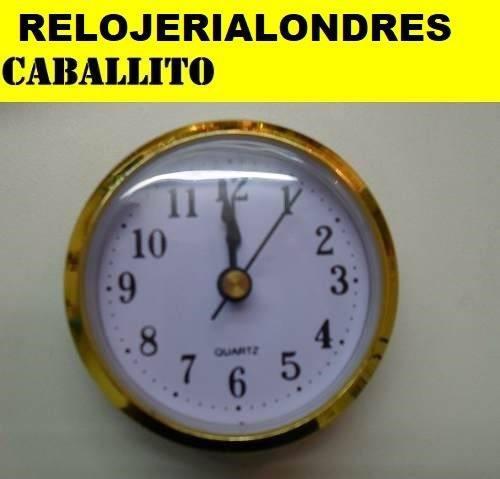 10 Maquinas Relojes Insertos 6,5cm Ideal Artesania Souveni