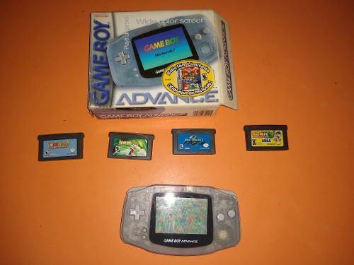 Game Boy Advance Más Caja Y Manual Con 4 Juegos De Regalo