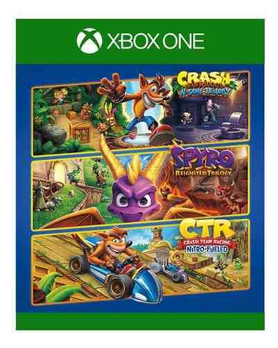 Lote Triple Juego De Crash + Spyro- Cód 25 - Xbox One