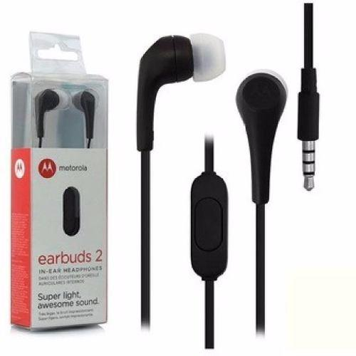 Auriculares Motorola Earbuds2 C/microfono Cable De 1.2 Mts