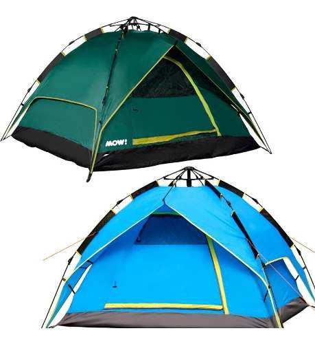 Carpa 4 Personas Automatica Camping Impermeable Sobretecho