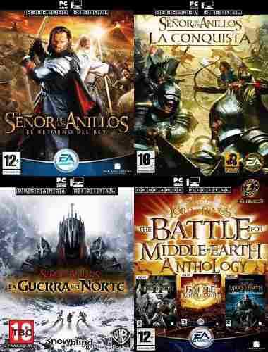 El Señor De Los Anillos (5 Juegos) Pc Digital Español