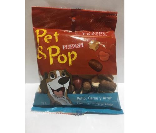 10 Un Golosinas Perro Mon Ami Snack Saludable Pet & Pop 75gr