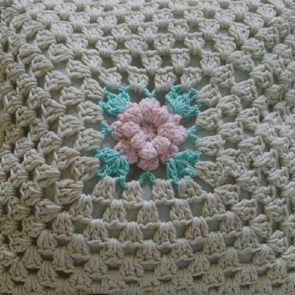 Almohadon Tejido a Crochet