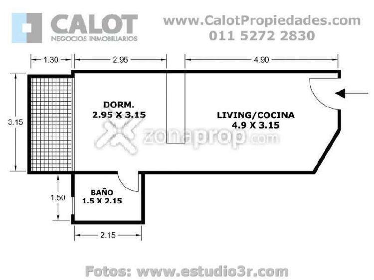 Alquiler Temporal en Villa Crespo - Palestina 1100