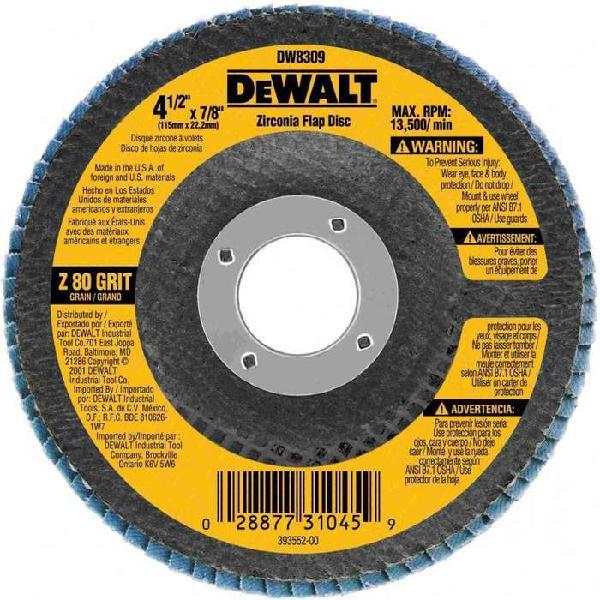 Flaps Zinconio DeWalt (Código DW8309)