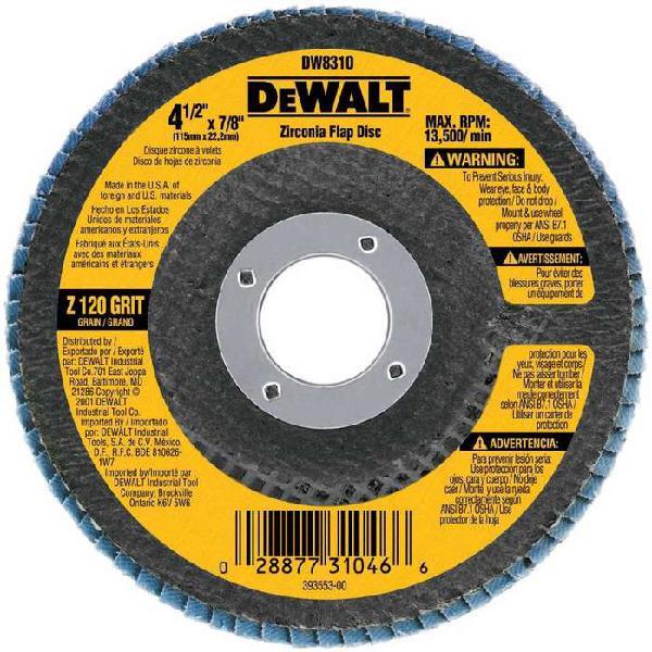 Flaps Zinconio DeWalt (Código DW8310)