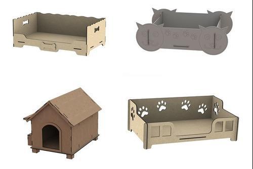 Pack Vectores Camas Casas Animales Perros Gatos Mdf Laser