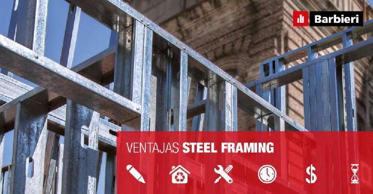 Perfiles PGU y PGC para Steel Framing, placas exterior e