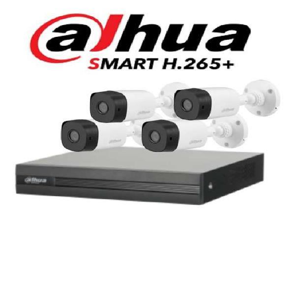 Alta seguridad kit de 4 camaras Dahua 1 marca Dvr 1080N