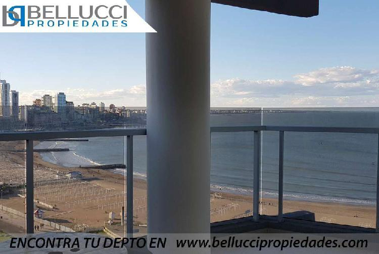EXCLUSIVO DEPARTAMENTO DE 3 AMBIENTES CON VISTA PLENA AL MAR