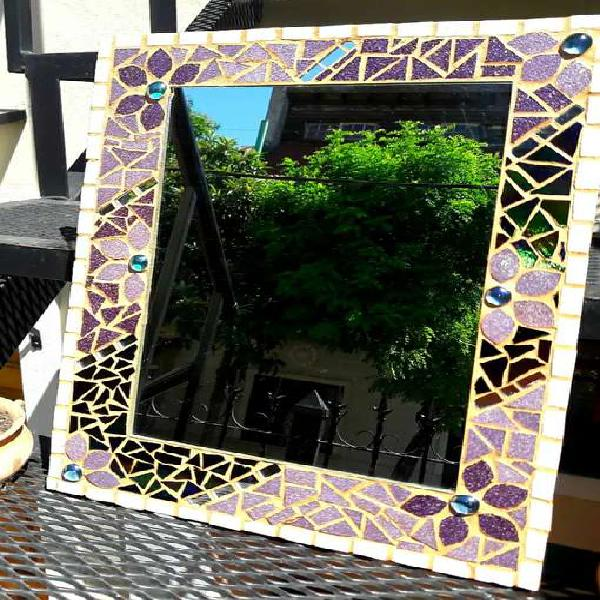 Espejo Rectangular en mosaico