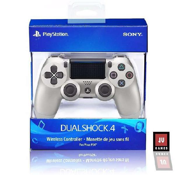 Joystick Ps4 Sony Play 4 Original Dualshock 4 Color Plata
