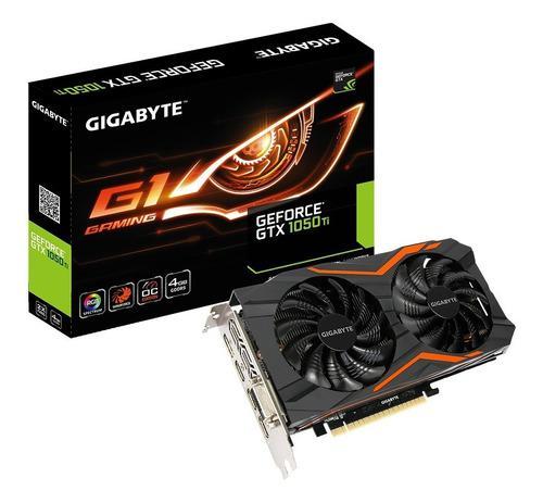 Placa De Video Gigabyte Gtx 1050 Ti G1 Gaming 4gb Oc Gddr5