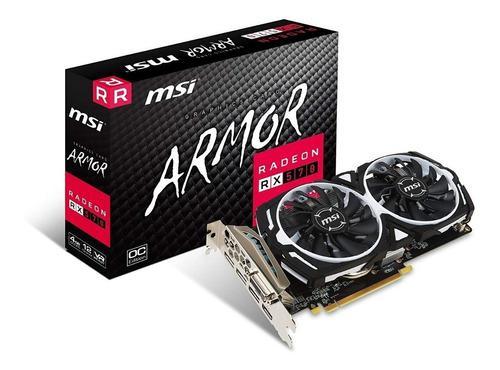 Placa De Video Radeon Rx 570 4gb Msi Armor Oc Cuotas Fijas
