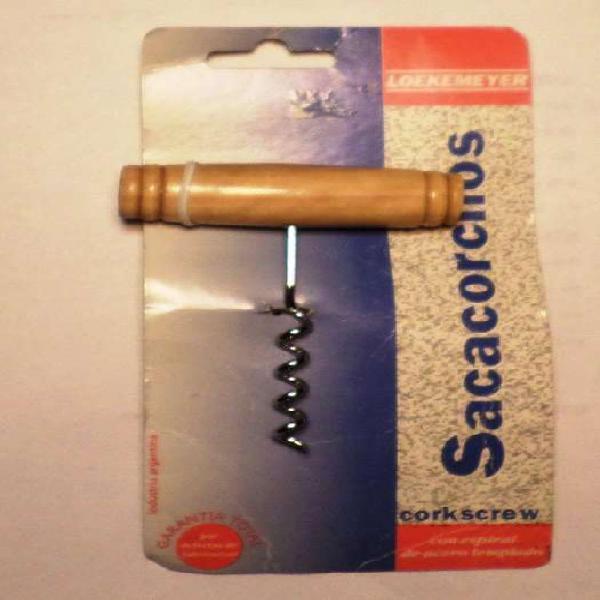 Sacacorchos Loekemeyer -Manija de madera -Nuevo-