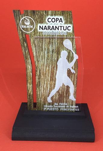Trofeo Medalla Acrilico Tenis X 15 Cm Color