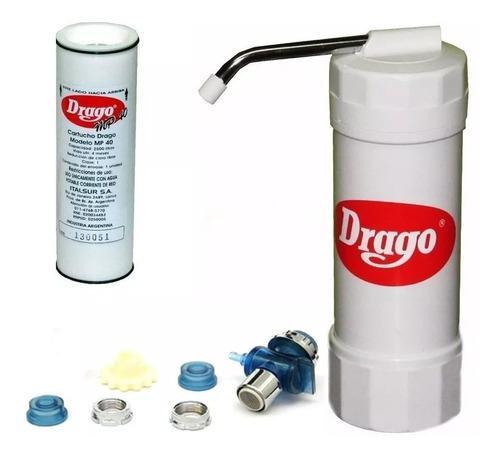 Filtro Purificador De Agua Drago Mp40 + 3 Cartucho Repuesto