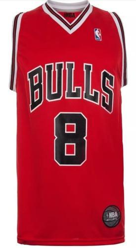 Musculosa Basket Nba Oficial Bulls Roja The Dark King